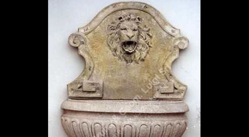 114 - Wall Fountain with Lion Mask