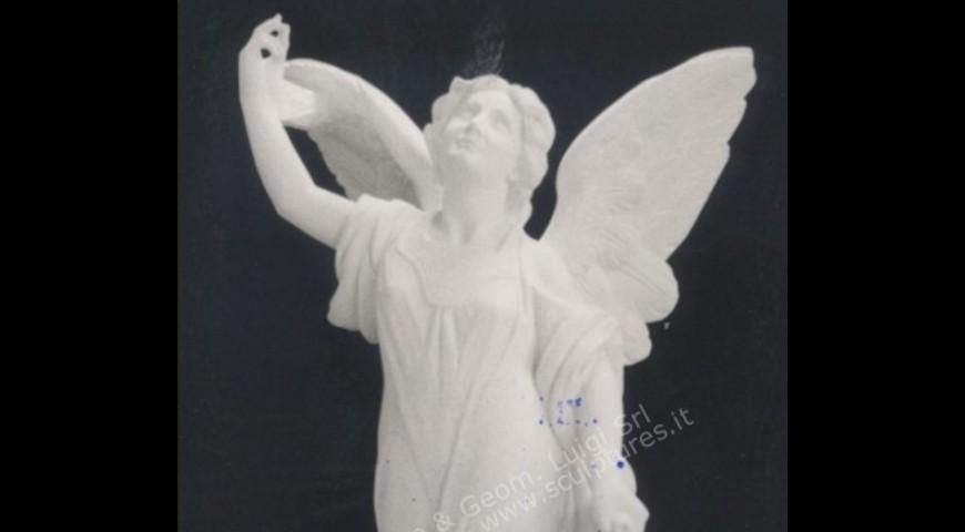 R8  - Hand Carved Female Angel Landscape Sculpture