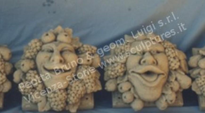 424 Stone Allegoric Masks
