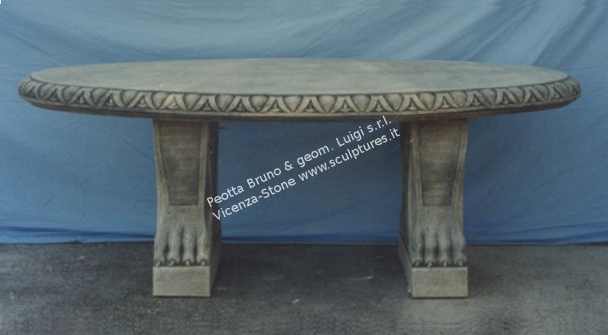 405 Decorated Oval Table