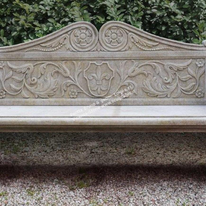 R083 Garden Stone Straight Bench