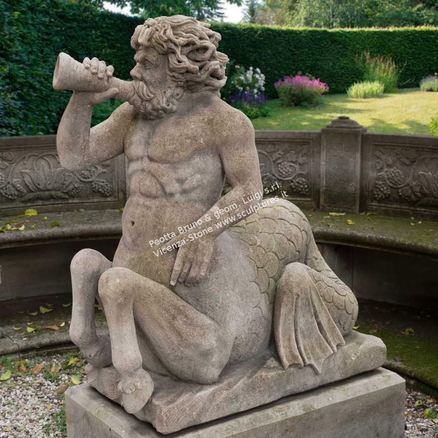 R073 Roman Tritone Sculpture