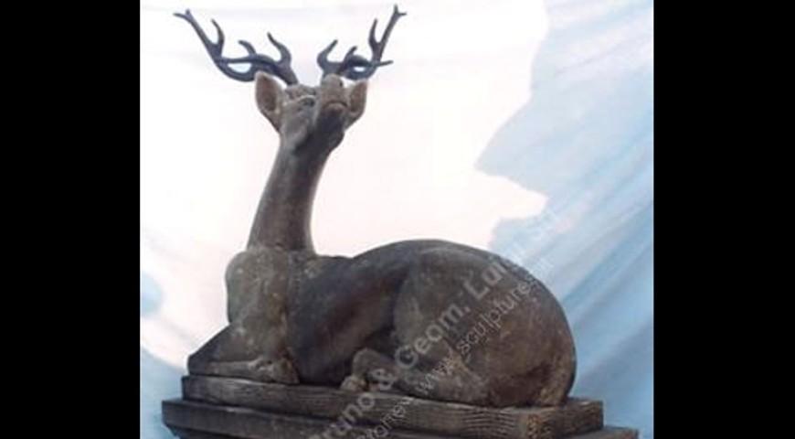 005 Deer Stone Statue