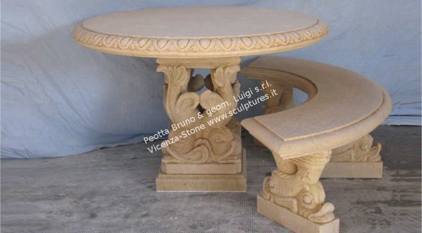 406 Dolphins Table with Benches