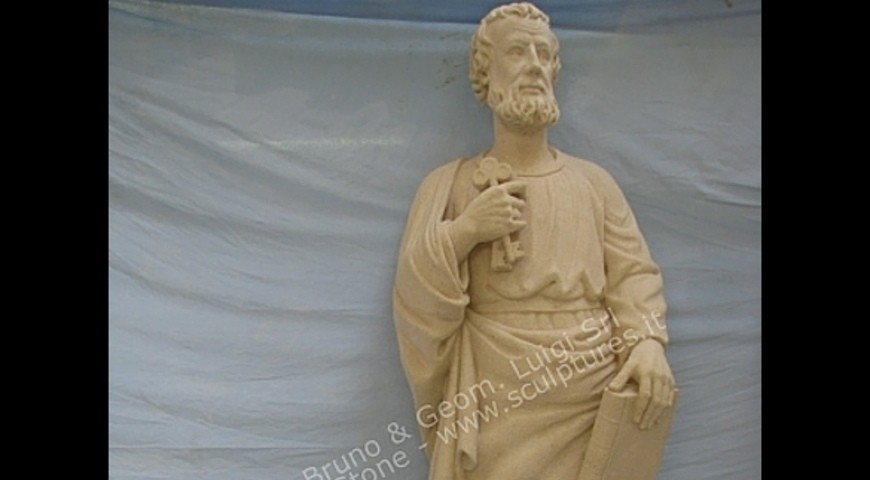 R10 - Hand Carved Statue of St Peter