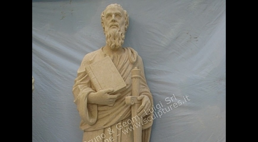 R11 - Hand Carved Statue of St. Paul