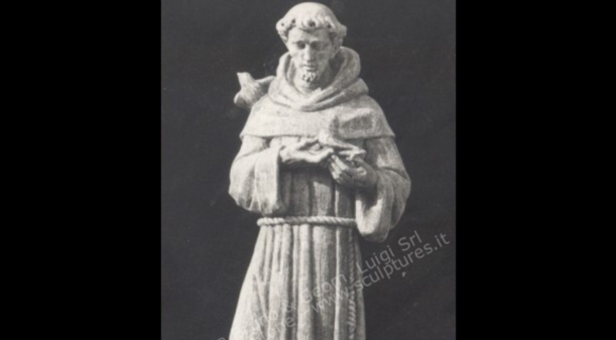 R5 - Hand carved St. Francis of Assisi Statue