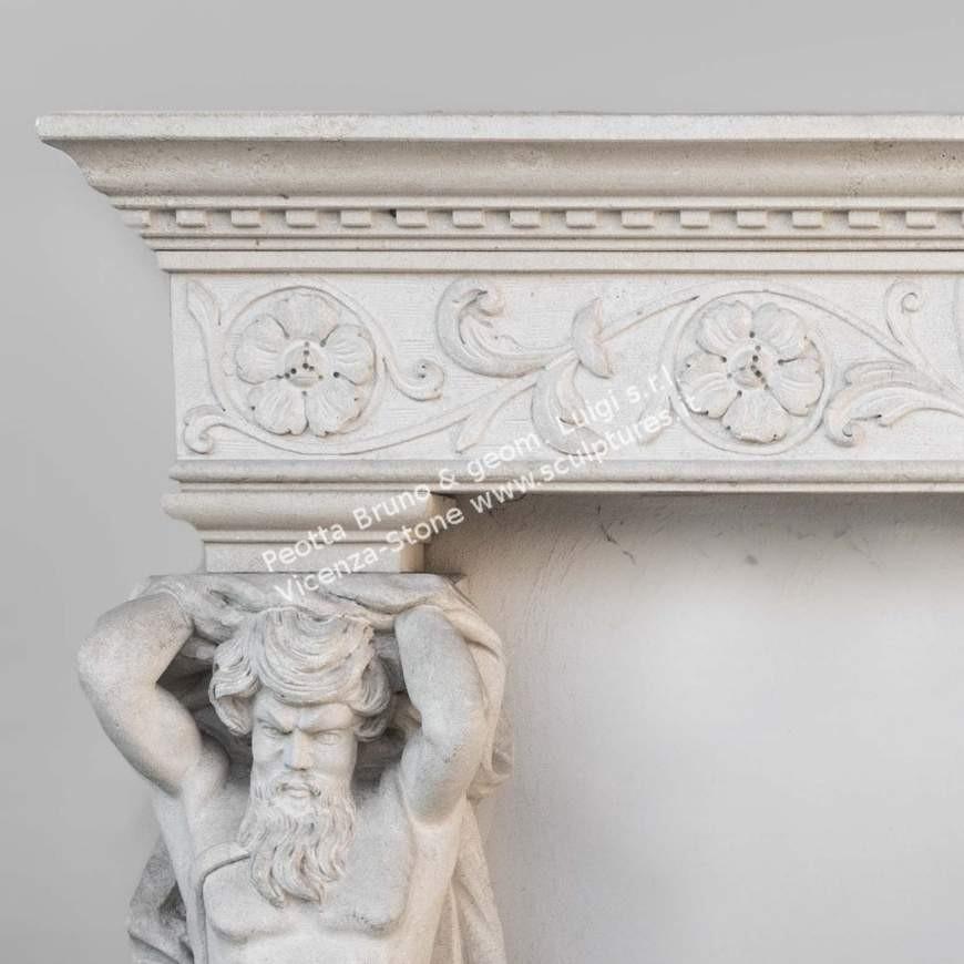 I016 Cariatidi Fireplace