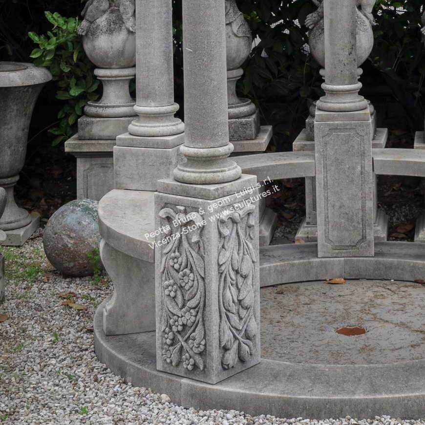R074 Handcarved Stone Gazebo