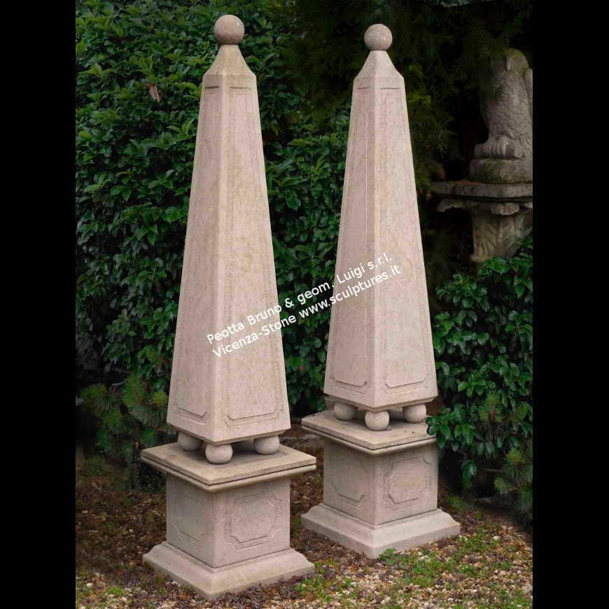R071 Handcarved Stone Obelisk