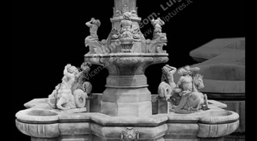 GG128 - Large Fountains - Neptune Fountain with Centauri, Putti and Seahorse