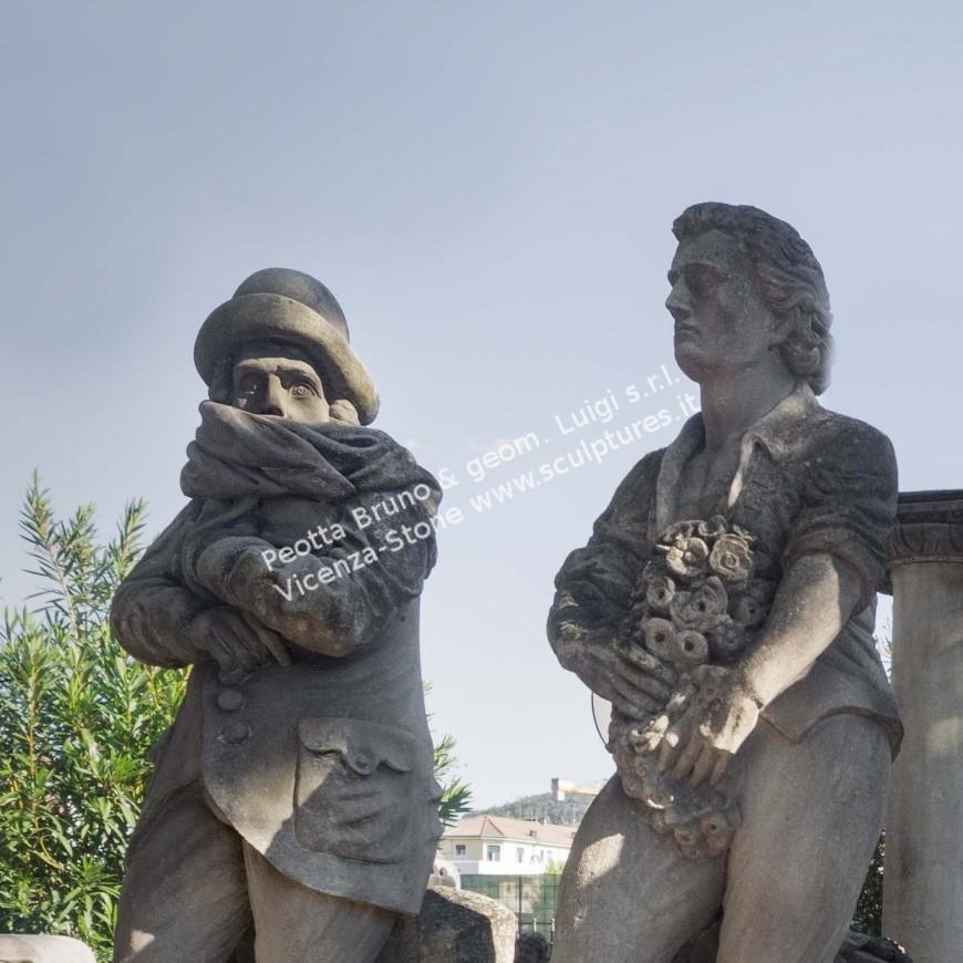 R057 Four Seasons Statues