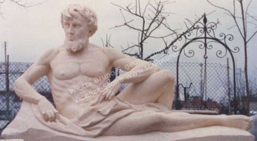 313 Lying Man Statue