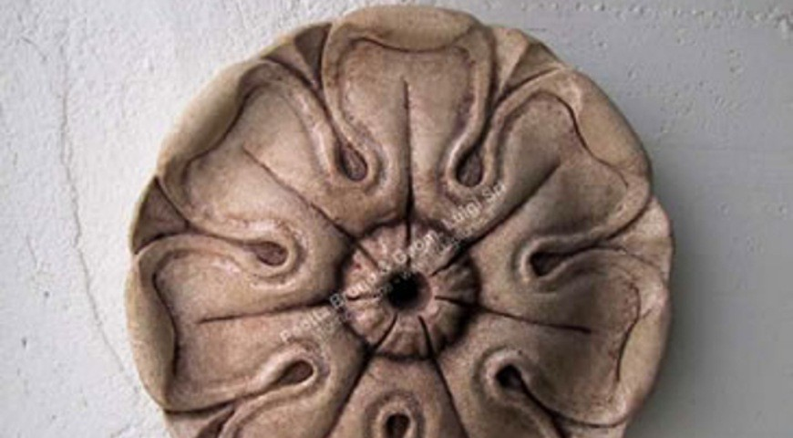 161 Carved Stone Rosette