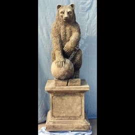 116 Bear Statue with Ball