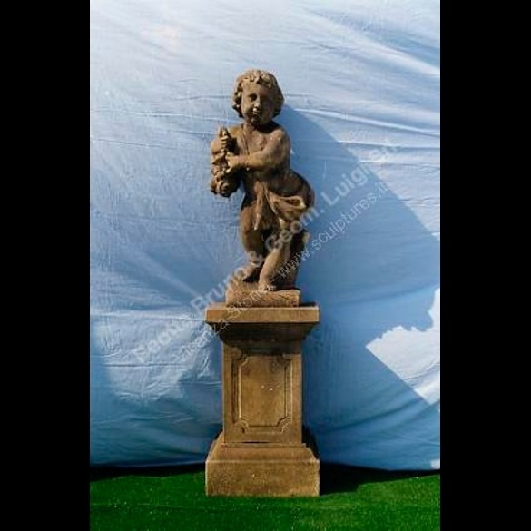 Garden Statues With Putti, Sculptures Of