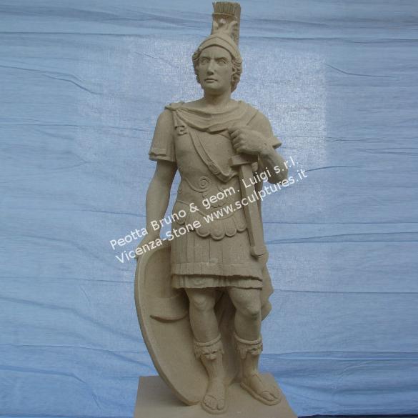 Peotta bruno roman carved stone sculptures mars statue