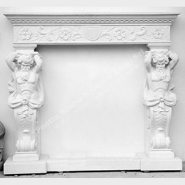GG 209 Statue Fireplace