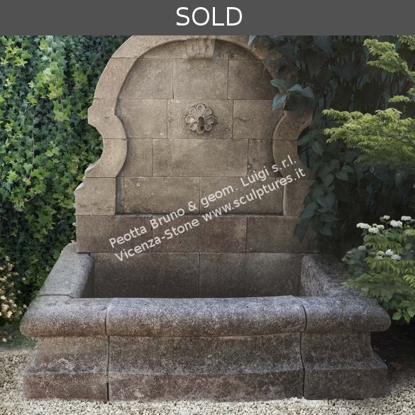 R050 Hand Carved Wall Fountain