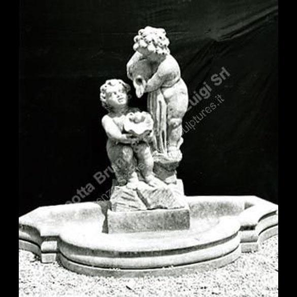 Peotta bruno fontana a muro con putti fontane a muro in - Fontane a muro da giardino ...