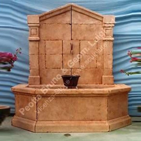 Peotta bruno fontane a muro da esterno fontana a muro - Fontane a muro da giardino ...