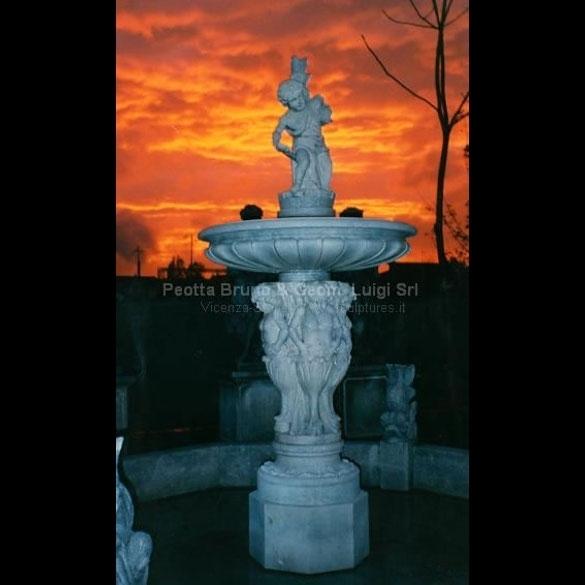 Peotta bruno fontane di pietra scolpita fontane in - Fontane a muro da giardino ...