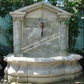 Peotta bruno fontane da giardino fontane in pietra di - Fontane a muro da giardino ...