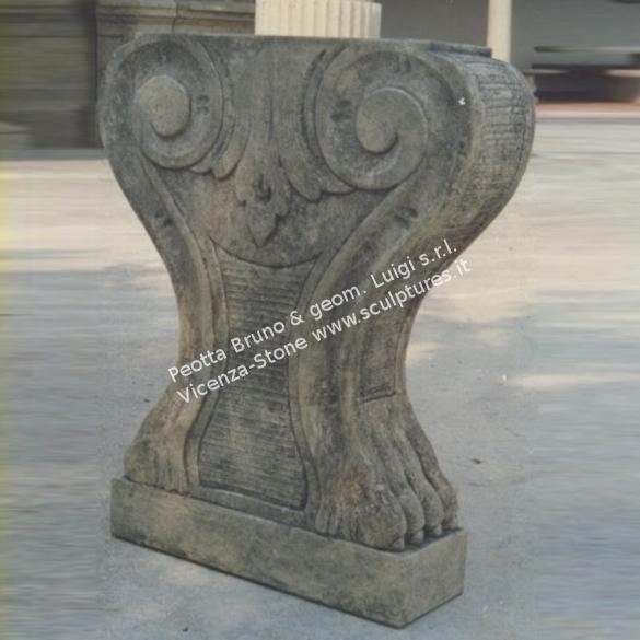 Peotta bruno basi per tavoli in pietra da interno basi per tavoli scolpiti a mano per interni - Tavolo con base in pietra ...