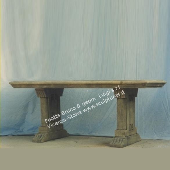 Tavoli In Pietra Per Interni.Peotta Bruno Tavoli In Pietra Stile Inglese Tavolo Rettangolare