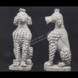 403 Poodle Dogs Statues