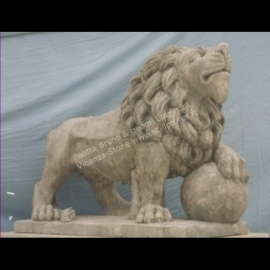 401 Lion with Sphere